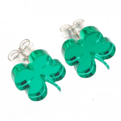 Four leaf clover stud earrings from Quirky Celia